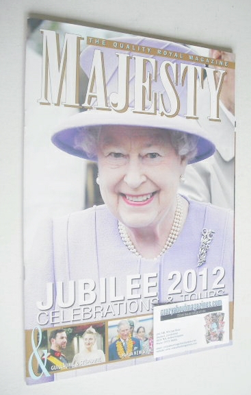 <!--2012-12-->Majesty magazine - Queen Elizabeth II cover (December 2012)