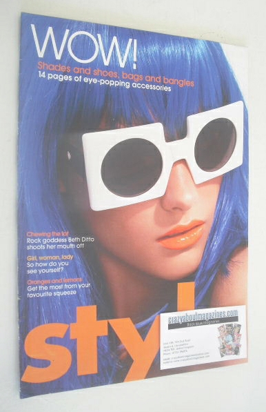 <!--2007-02-04-->Style magazine - Eye Popping Accessories cover (4 February