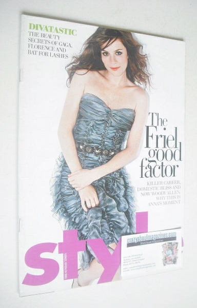 <!--2009-08-16-->Style magazine - Anna Friel cover (16 August 2009)