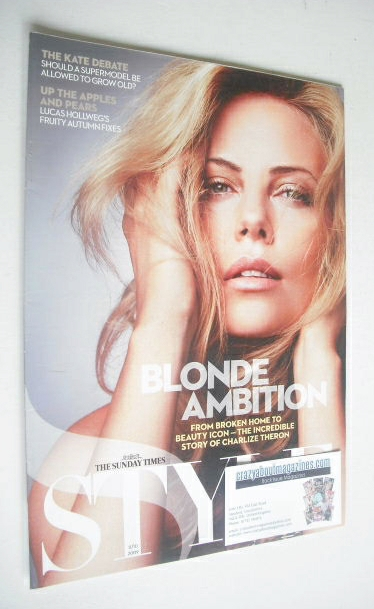 <!--2009-10-11-->Style magazine - Charlize Theron cover (11 October 2009)