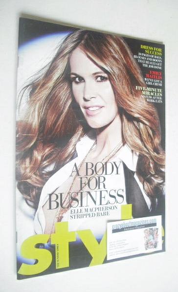 <!--2008-09-21-->Style magazine - Elle Macpherson cover (21 September 2008)