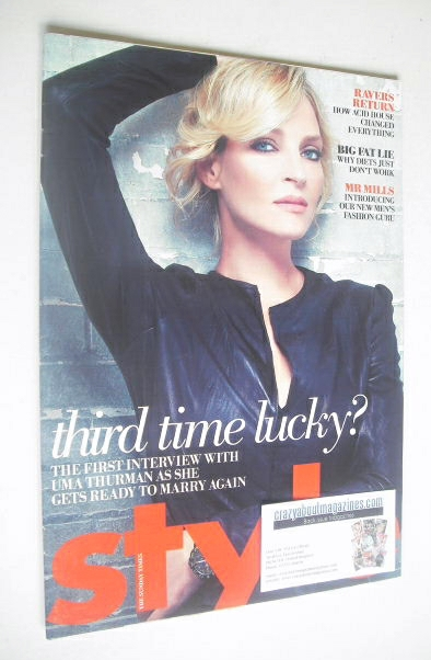<!--2008-07-06-->Style magazine - Uma Thurman cover (6 July 2008)
