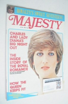 Majesty magazine - Lady Diana Spencer cover (April 1981 - Volume 1 No 12)