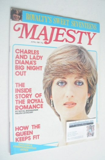 <!--1981-04-->Majesty magazine - Princess Diana cover (April 1981 - Volume