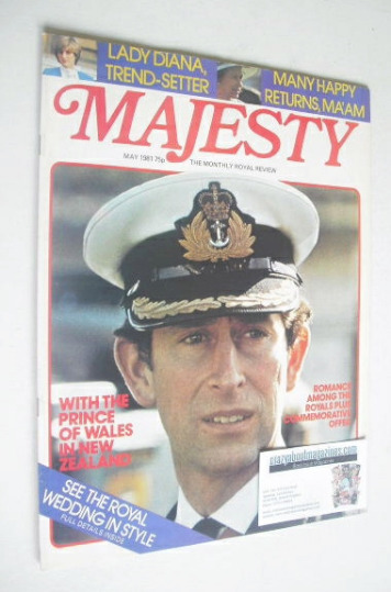 <!--1981-05-->Majesty magazine - Prince Charles cover (May 1981 - Volume 2