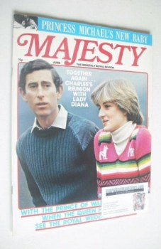 Majesty magazine - Prince Charles and Lady Diana Spencer cover (June 1981 - Volume 2 No 2)
