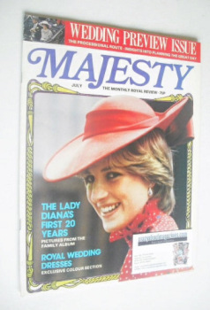 Majesty magazine - Lady Diana Spencer cover (July 1981 - Volume 2 No 3)