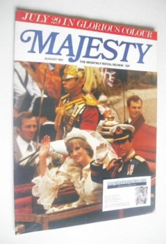 Majesty magazine - Prince Charles and Lady Diana Spencer wedding cover (August 1981 - Volume 2 No 4)