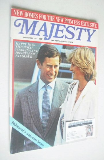 <!--1981-09-->Majesty magazine - Prince Charles and Princess Diana cover (S