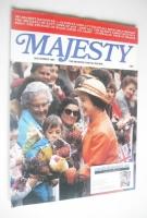 <!--1981-11-->Majesty magazine - Queen Elizabeth II cover (November 1981 - Volume 2 No 7)