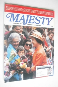 Majesty magazine - Queen Elizabeth II cover (November 1981 - Volume 2 No 7)