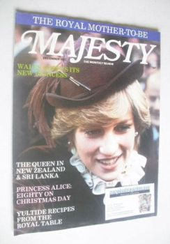 Majesty magazine - Princess Diana cover (December 1981 - Volume 2 No 8)