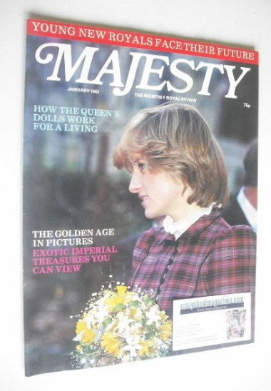 <!--1982-01-->Majesty magazine - Princess Diana cover (January 1982 - Volum