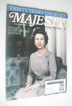 Majesty magazine - Queen Elizabeth II cover (February 1982 - Volume 2 No 10)