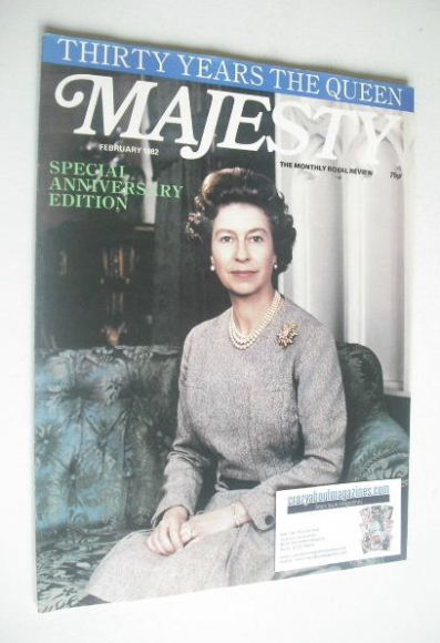 <!--1982-02-->Majesty magazine - Queen Elizabeth II cover (February 1982 -