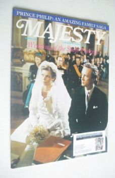 Majesty magazine - Princess Marie-Astrid of Luxembourg wedding cover (March 1982 - Volume 2 No 11)