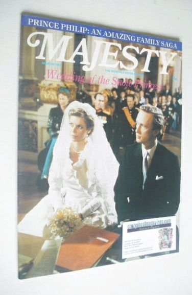 <!--1982-03-->Majesty magazine - Princess Marie-Astrid of Luxembourg weddin