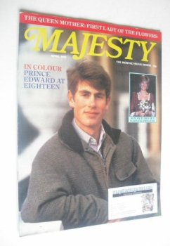 Majesty magazine - Prince Edward cover (April 1982 - Volume 2 No 12)