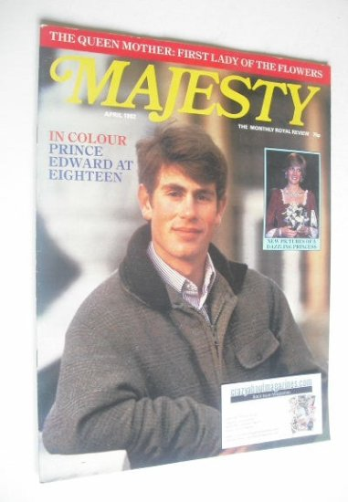 <!--1982-04-->Majesty magazine - Prince Edward cover (April 1982 - Volume 2