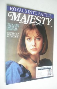 Majesty magazine - Lady Helen Windsor cover (May 1982 - Volume 3 No 1)