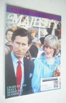 Majesty magazine - Prince Charles and Princess Diana cover (June 1982 - Volume 3 No 2)
