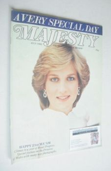 Majesty magazine - Princess Diana cover (July 1982 - Volume 3 No 3)