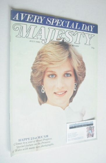 <!--1982-07-->Majesty magazine - Princess Diana cover (July 1982 - Volume 3