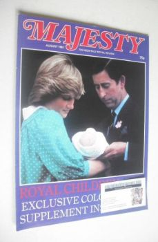 Majesty magazine - Prince Charles, Princess Diana and Prince William cover (August 1982 - Volume 3 No 4)