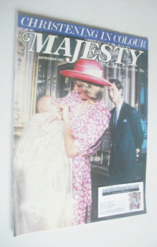 Majesty magazine - Prince Charles, Princess Diana and Prince William cover (September 1982 - Volume 3 No 5)