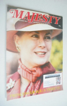 Majesty magazine - Princess Grace cover (October 1982 - Volume 3 No 6)