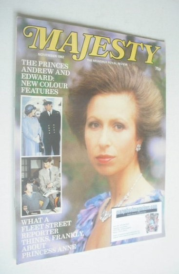 <!--1982-11-->Majesty magazine - Princess Anne cover (November 1982 - Volum