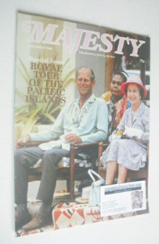 Majesty magazine - Prince Philip and Queen Elizabeth II cover (December 1982 - Volume 3 No 8)