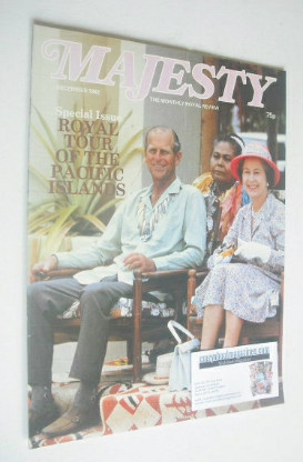 <!--1982-12-->Majesty magazine - Prince Philip and Queen Elizabeth II cover