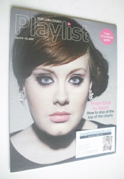 The Times Playlist magazine - 9 April 2011 - Adele cover