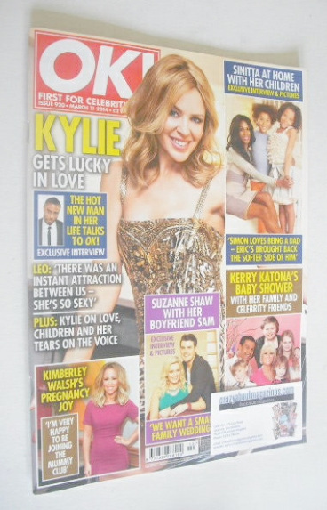 <!--2014-03-11-->OK! magazine - Kylie Minogue cover (11 March 2014 - Issue