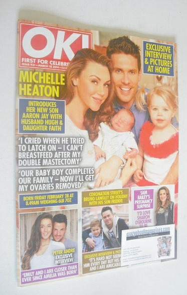 <!--2014-03-18-->OK! magazine - Michelle Heaton and family cover (18 March