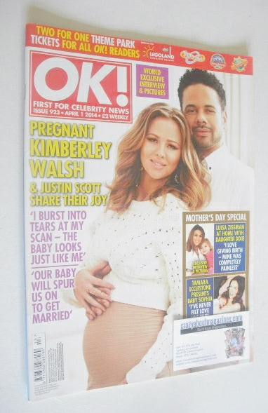 <!--2014-04-01-->OK! magazine - Kimberley Walsh and Justin Scott cover (1 A
