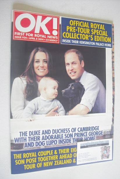 <!--2014-04-08-->OK! magazine - Prince William, Kate and Prince George cove