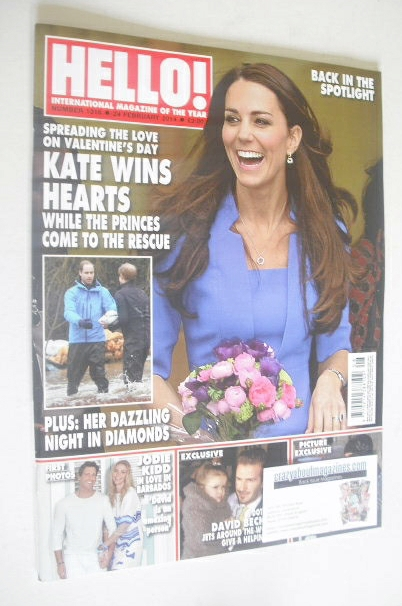 <!--2014-02-24-->Hello! magazine - The Duchess of Cambridge cover (24 Febru