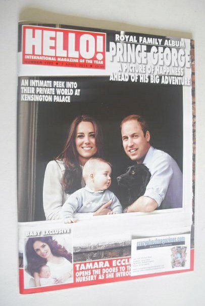 <!--2014-04-07-->Hello! magazine - Prince William, Kate and Prince George c