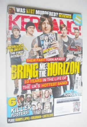 <!--2014-04-12-->Kerrang magazine - Bring Me The Horizon cover (12 April 20