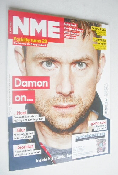 <!--2014-04-12-->NME magazine - Damon Albarn cover (12 April 2014)