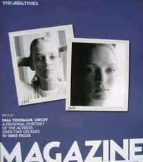 <!--2007-12-08-->The Times magazine - Uma Thurman cover (8 December 2007)