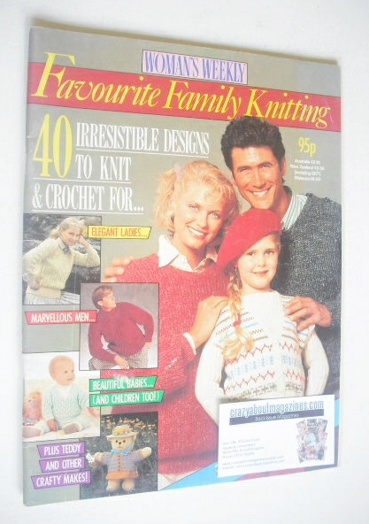 <!--1987-12-->Woman's Weekly magazine - Favourite Family Knitting (1987)