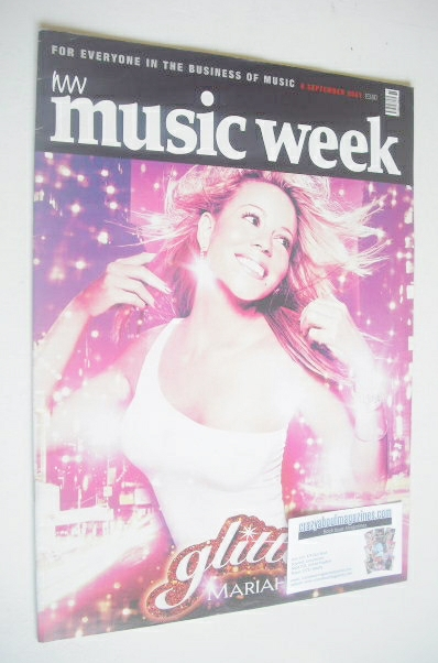 <!--2001-09-08-->Music Week magazine - Mariah Carey cover (8 September 2001