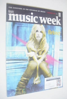 <!--2001-11-03-->Music Week magazine - Britney Spears cover (3 November 2001)