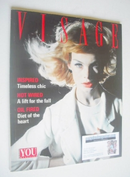 Visage magazine - Jean Shrimpton cover (October 1988)