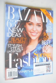 Harper's Bazaar magazine - February 2010 - Miley Cyrus cover