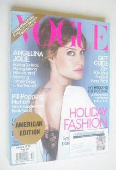 US Vogue magazine - December 2010 - Angelina Jolie cover