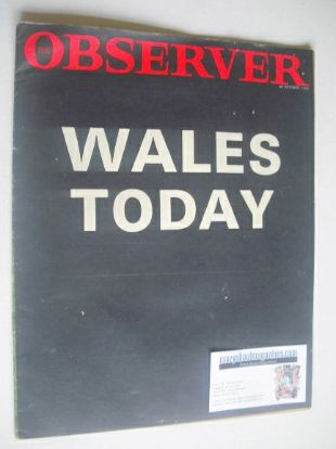 <!--1966-10-30-->The Observer magazine - Wales Today cover (30 October 1966